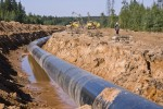 construction of the gas pipeline